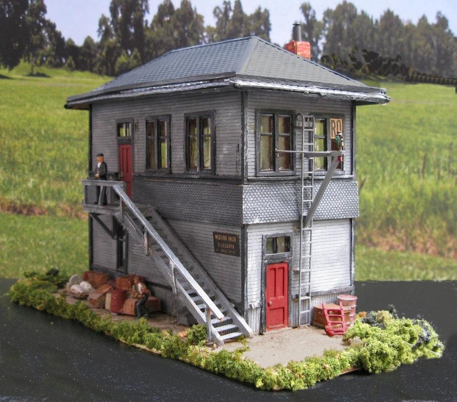 HO scale Interlocking Tower