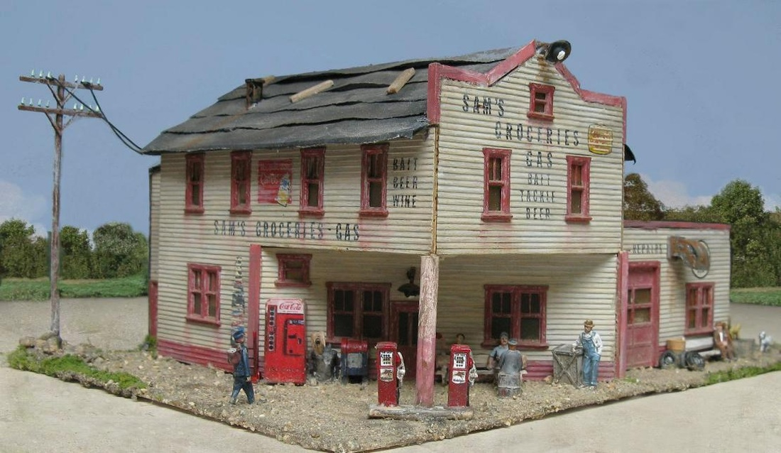HO scale grocery store
