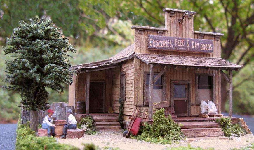 HO scale dry goods store