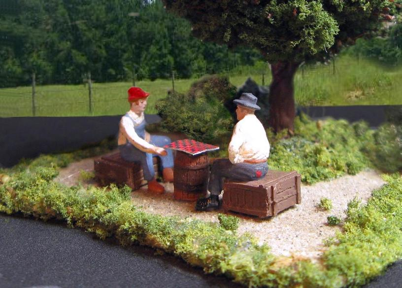 HO Scale Checker Players