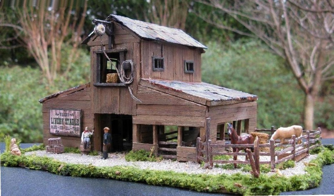 HO scale Livery Stable