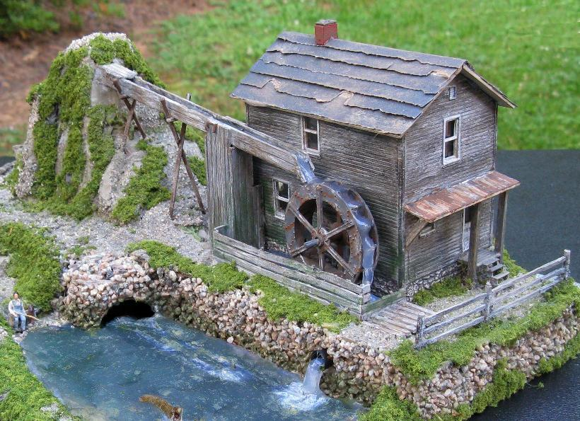 HO scale water mill
