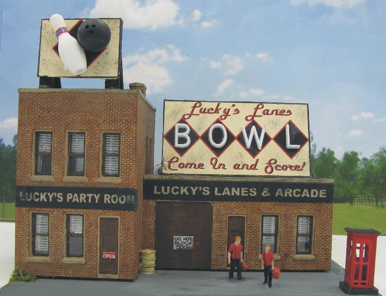 HO scale bowling alley