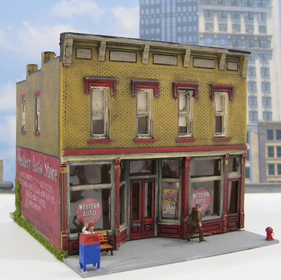 HO Scale Western Auto Building