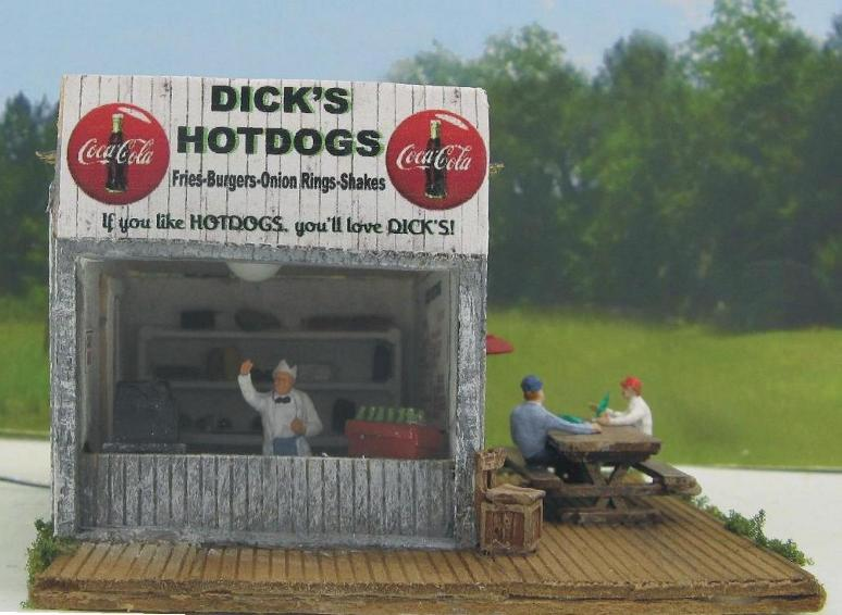 ho scale hot dog stand