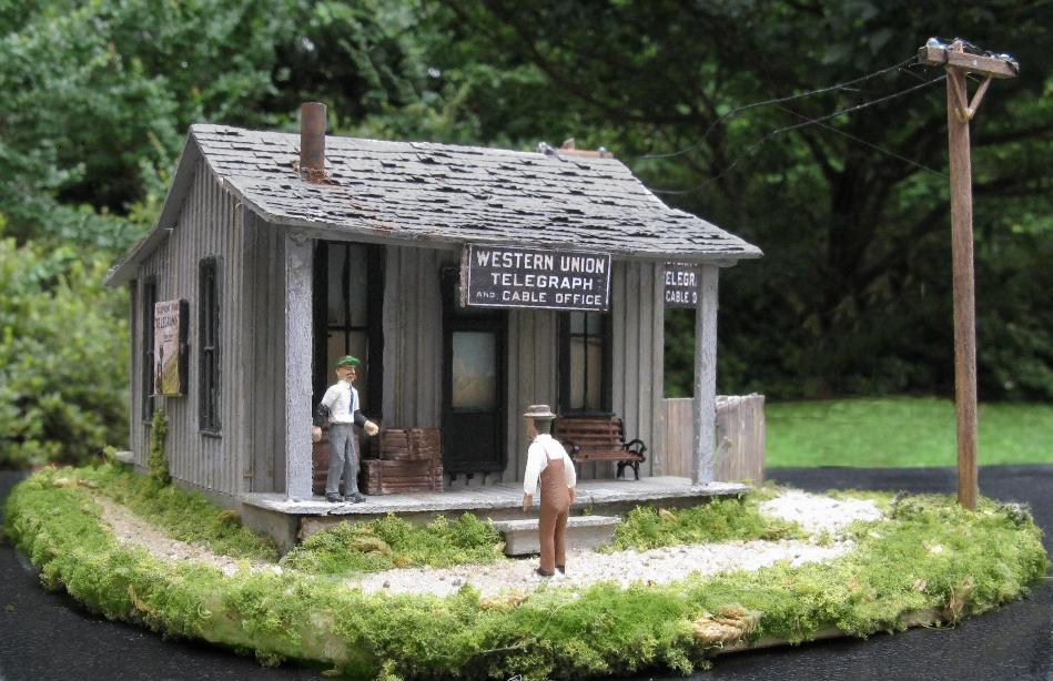 ho scale western union building